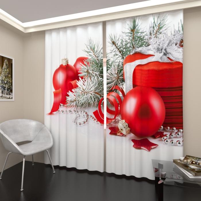 Фотошторы «Новогодний подарок»