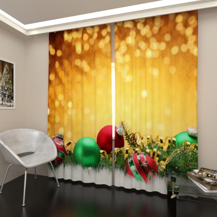 Фотошторы «Новогоднее настроение 7»