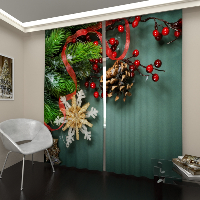 Фотошторы «Новогоднее настроение 3»