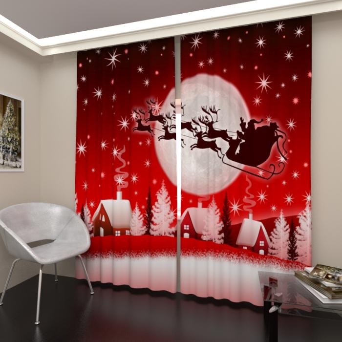 Фотошторы «Новогодняя сказка 7»