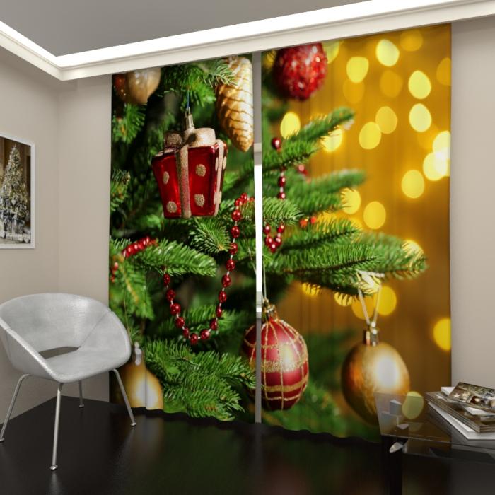 Фотошторы «Новогодняя елка 5»