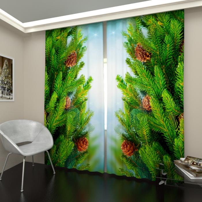 Фотошторы «Новогодняя елка 4»