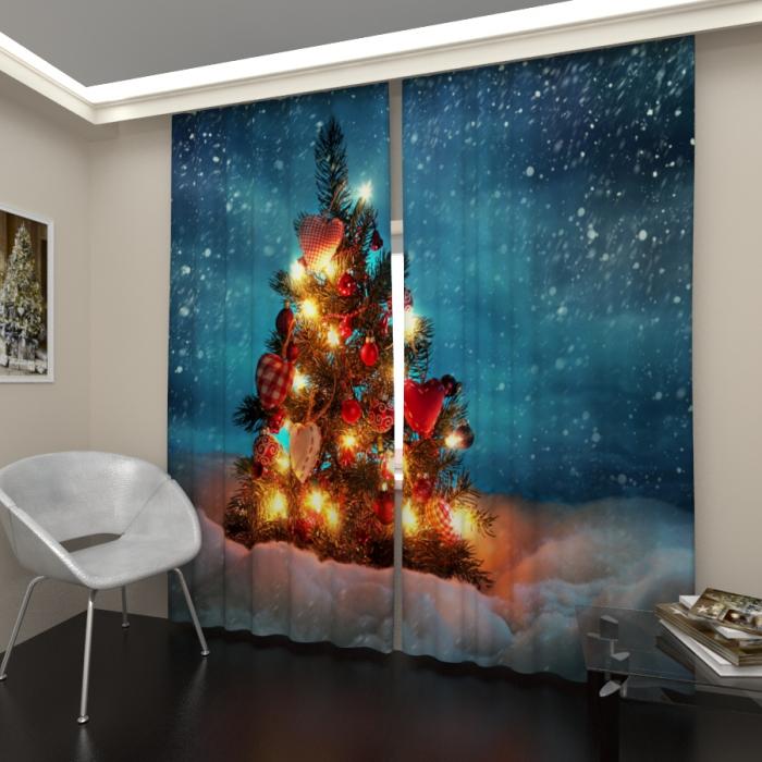 Фотошторы «Новогодняя елка 3»