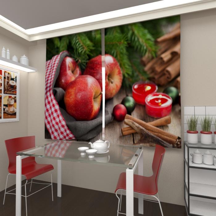 Фотошторы «Рождественские яблоки»