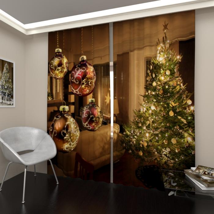 Фотошторы «Новый год в доме»