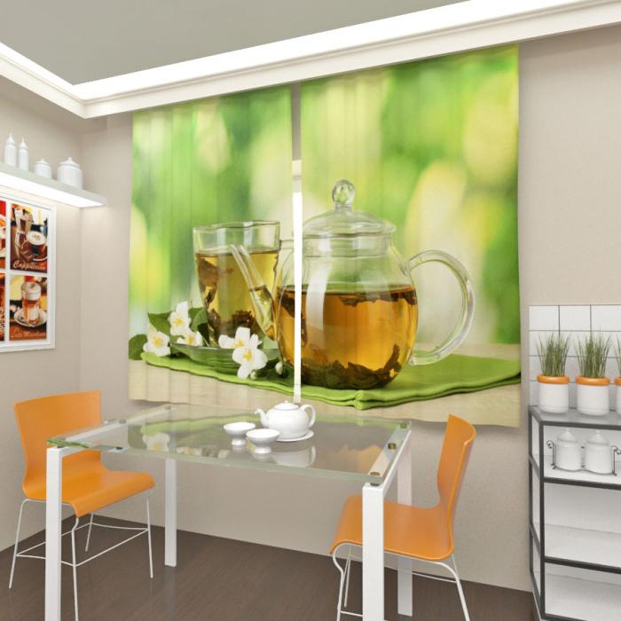 Фотошторы «Зеленый чай»