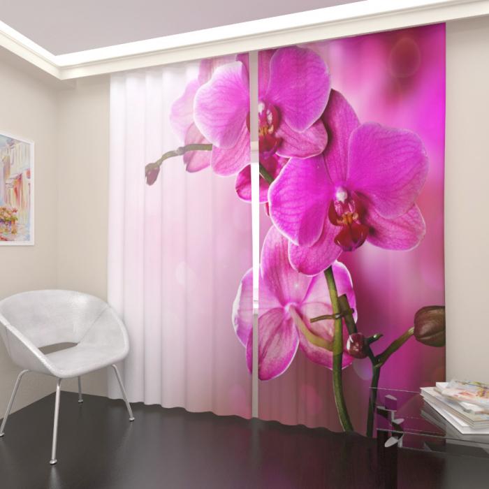Фотошторы «Лиловая орхидея»