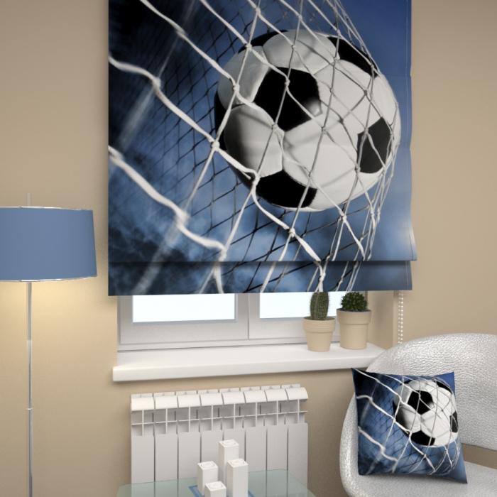 Римские фотошторы «Р Футбольный мяч»