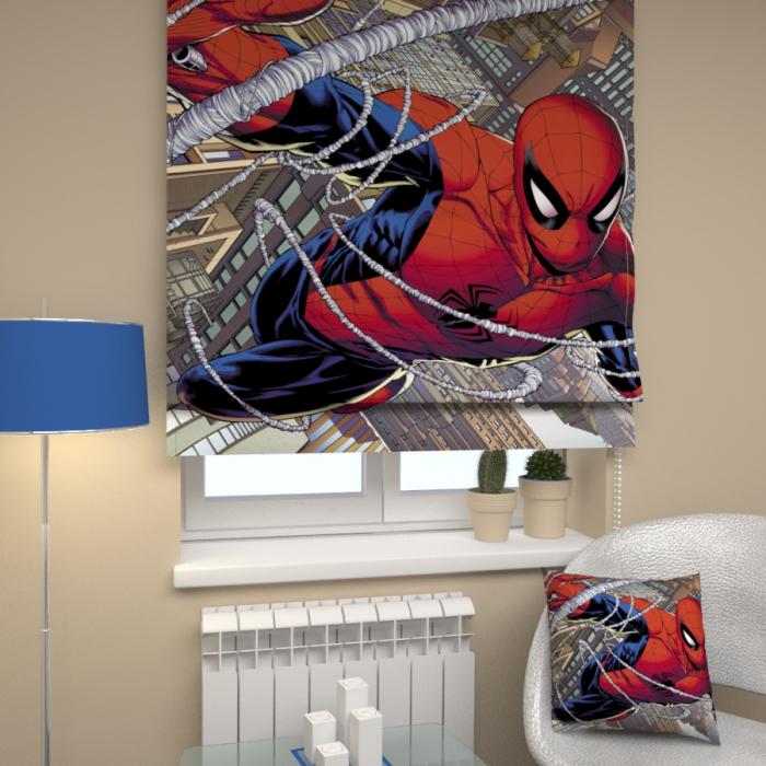 Римские фотошторы «Р Человек паук»