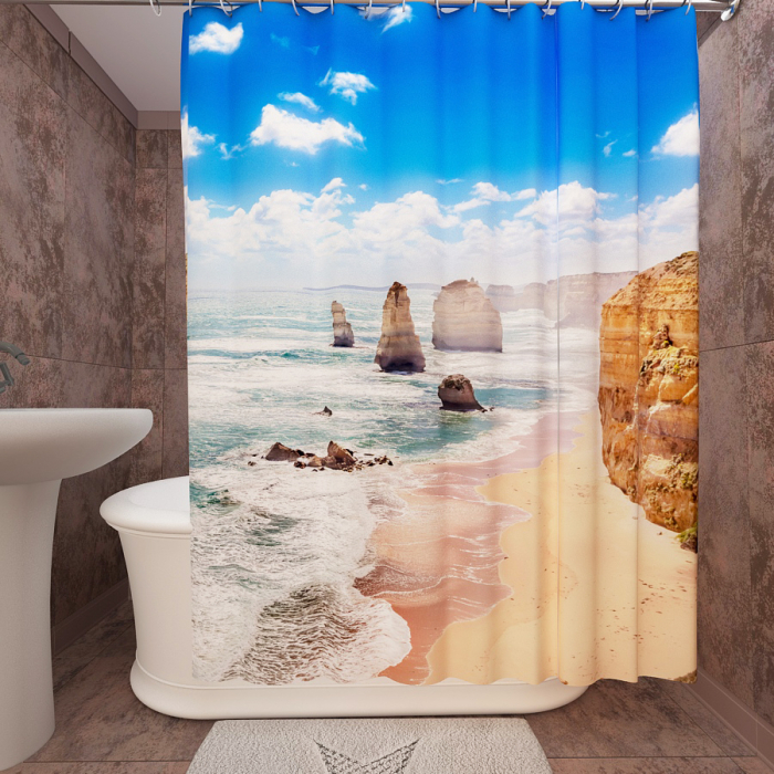 Фотошторы для ванной «Океан 2»