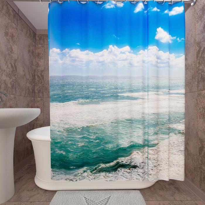 Фотошторы для ванной «Океан 1»