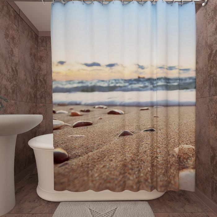 Фотошторы для ванной «Песчанный пляж 2»
