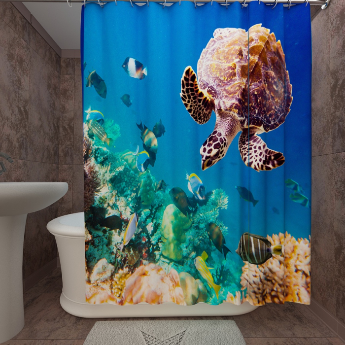 Фотошторы для ванной «Подводный мир 51»