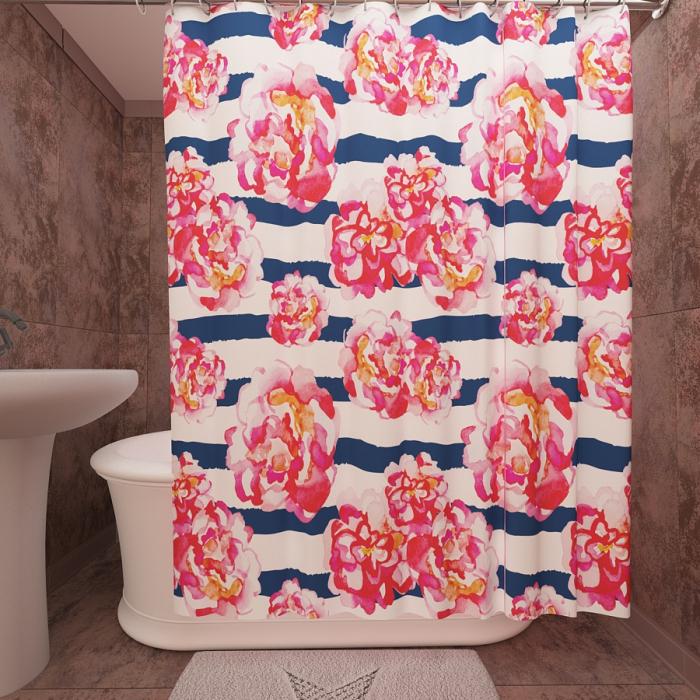 Фотошторы для ванной «Полоска»