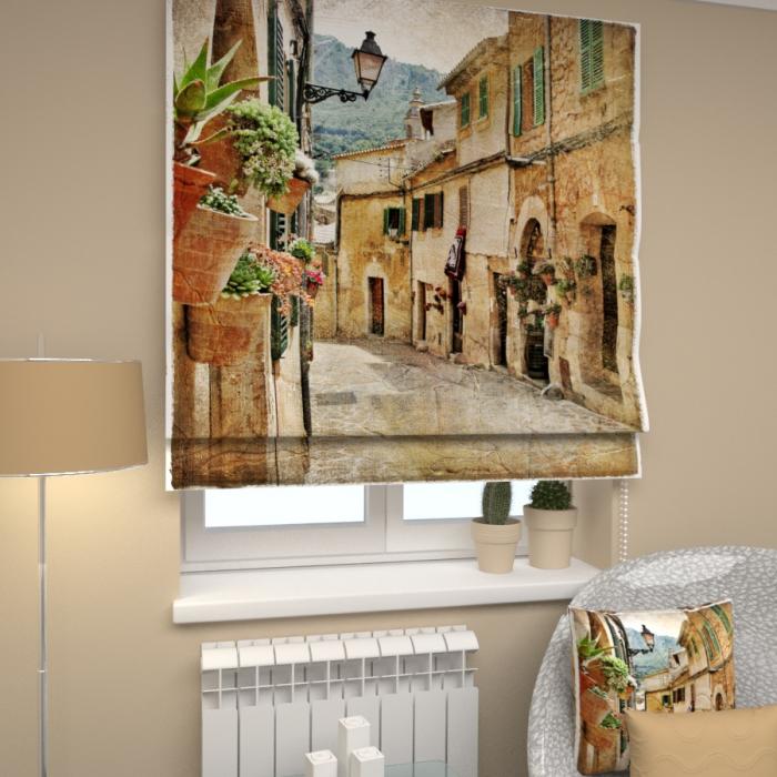 Римские фотошторы «Р Средиземноморский город 1»