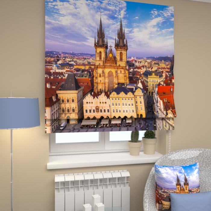 Римские фотошторы «Р Вечерняя Прага»