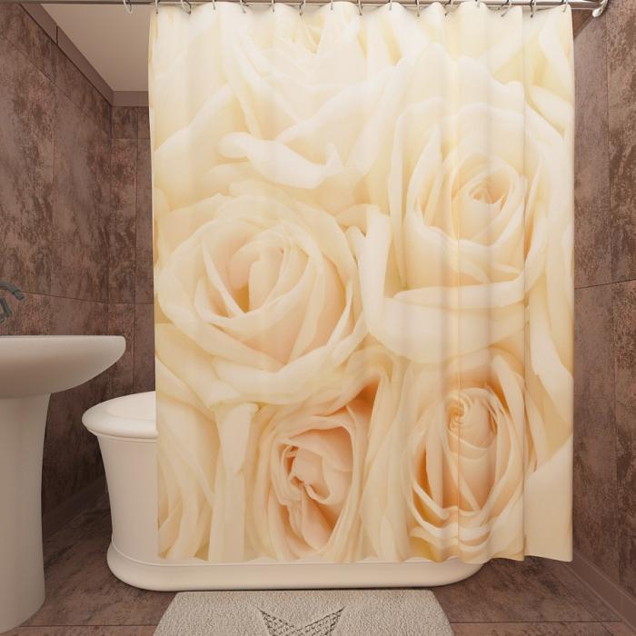 Римские фотошторы «Р Розы белые 3»