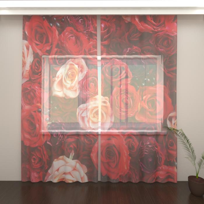 Фототюль «Розы красные»