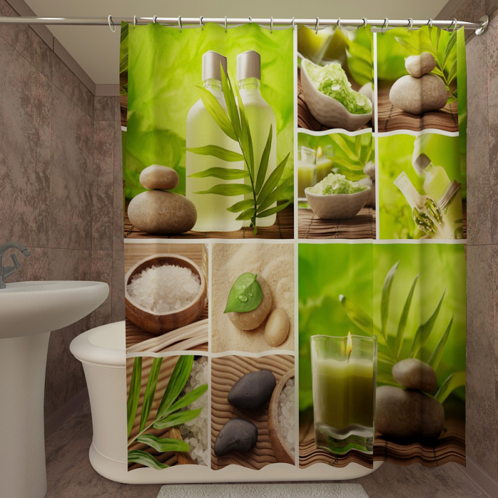 Фотошторы для ванной «Спа 2»