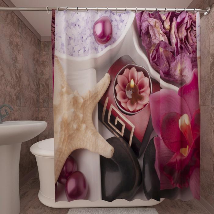 Фотошторы для ванной «Спа 5»