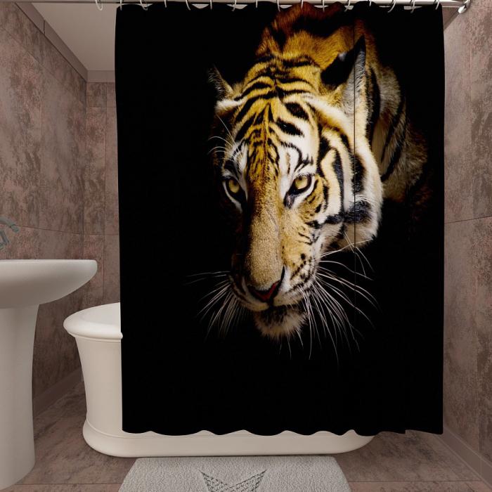 Фотошторы для ванной «Тигр 3»