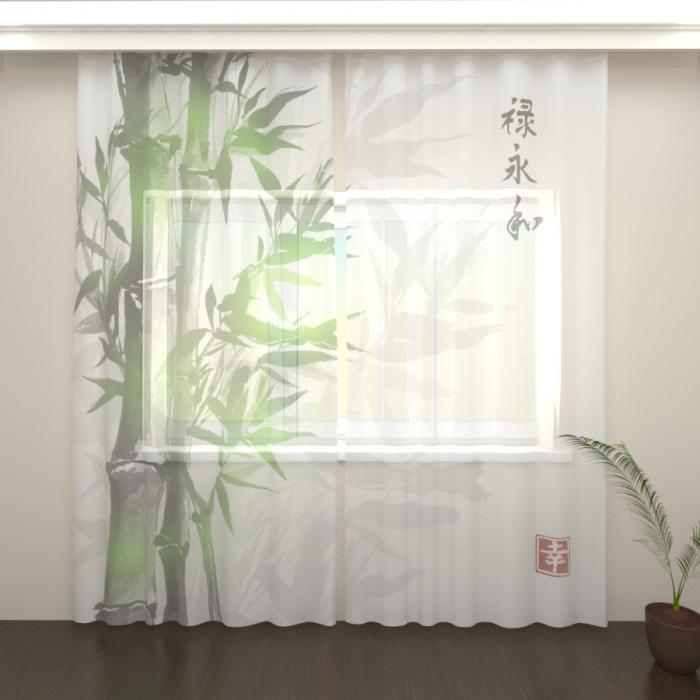 Фототюль «Ветви бамбука»