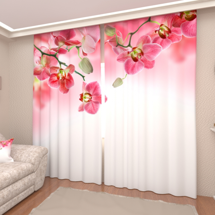 Фотошторы «Розовые орхидеи 4»