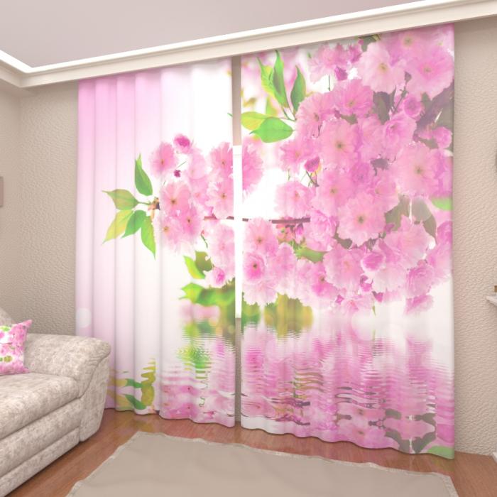 Фотошторы «Розовое цветение»