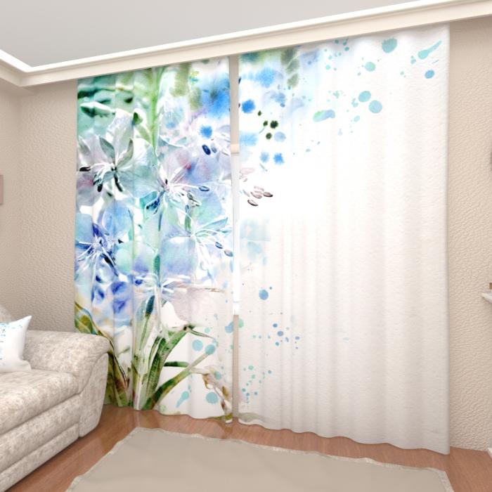 Фотошторы «Голубые цветы»