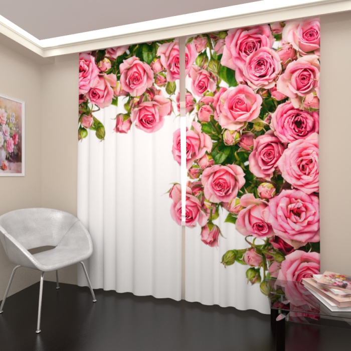 Фотошторы «Ароматные розы»