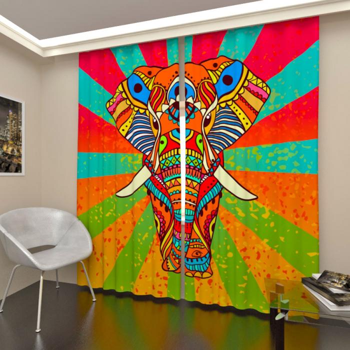 Фотошторы «Арт слон»