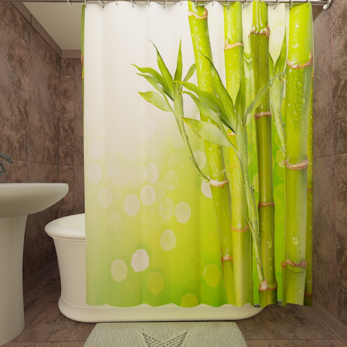Фотошторы для ванной «Бамбук 2»
