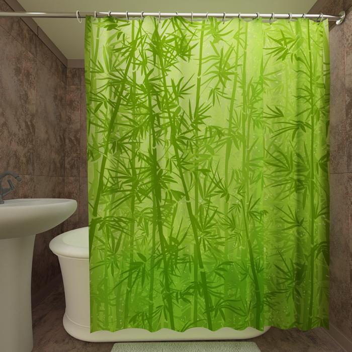 Фотошторы для ванной «Бамбуковые заросли»