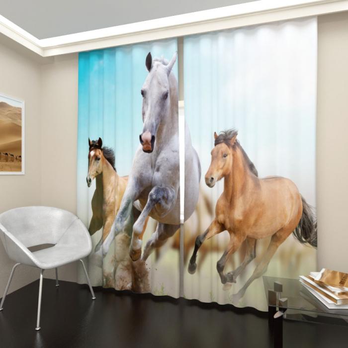 Фотошторы «Бегущие лошади 1»