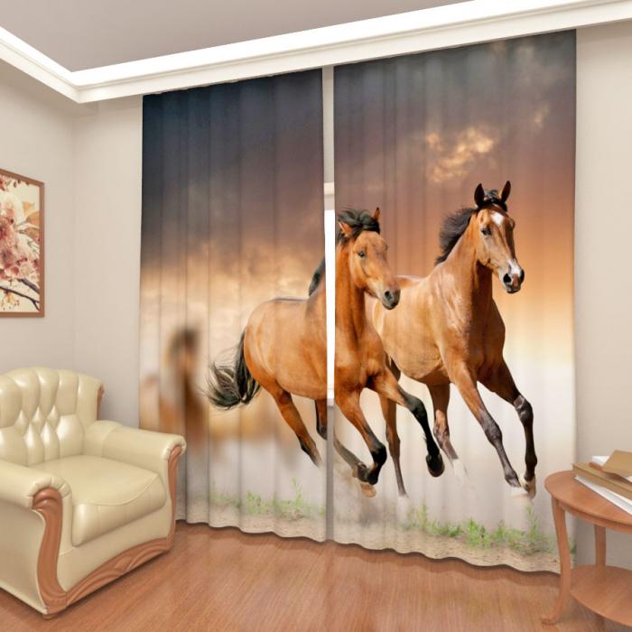 Фотошторы «Бегущие лошади 2»