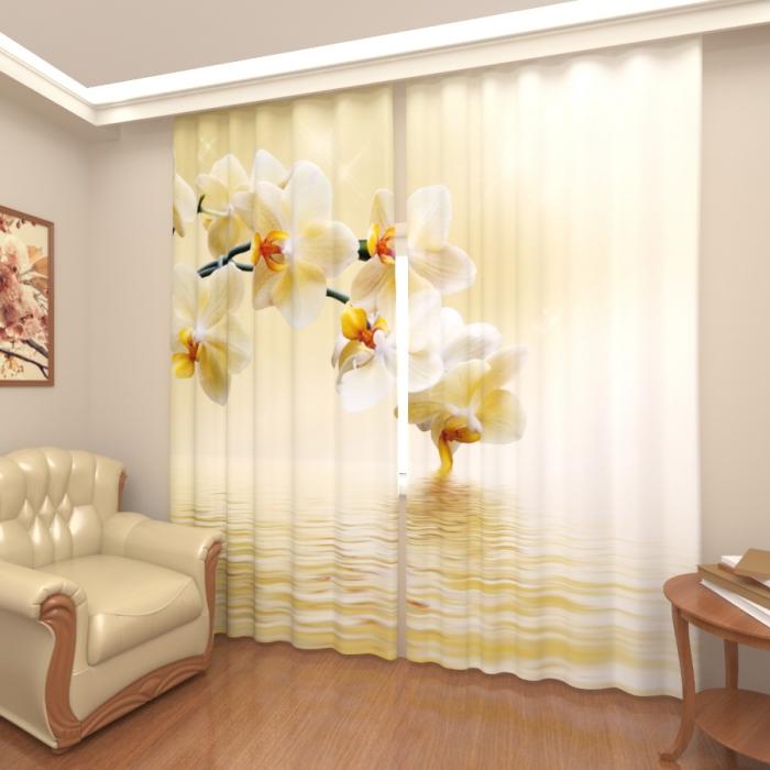 Фотошторы «Белая орхидея»
