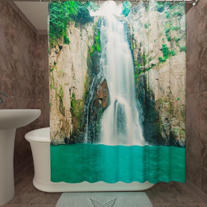 Фотошторы для ванной «Быстрый водопад»