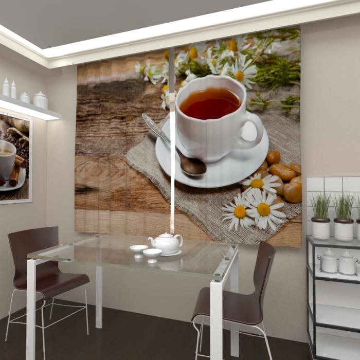 Фотошторы «Бодрящий чай»