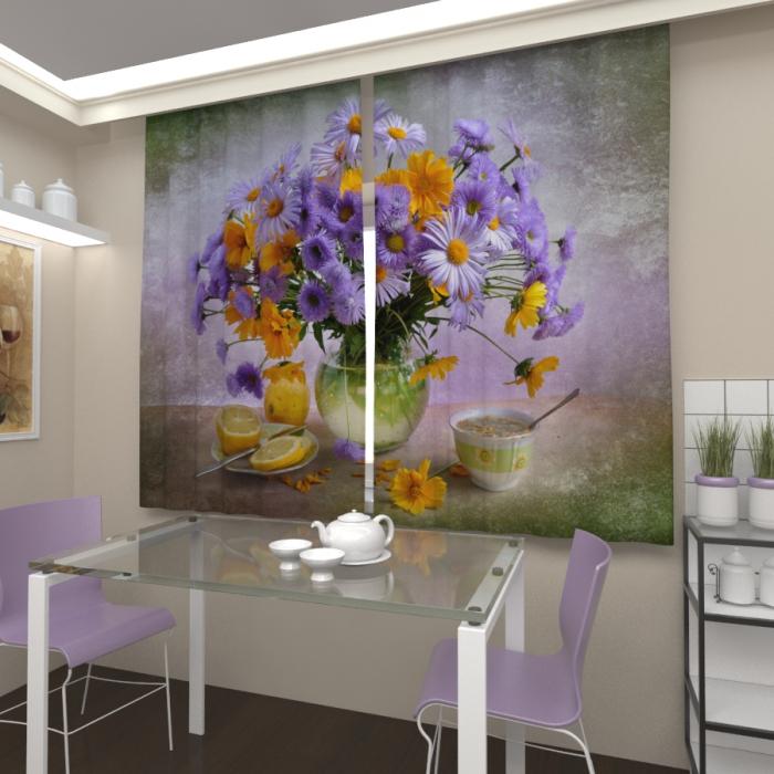 Фотошторы «Букет луговых цветов»