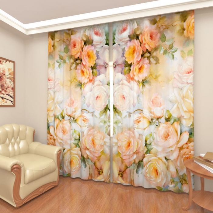 Большая распродажа «Чайные розы, Сатен, Высота 253 см»