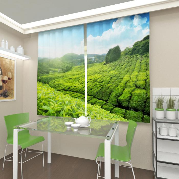 Фотошторы «Чайная плантация»