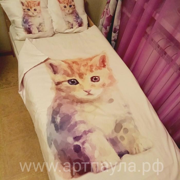 Постельное белье «КПБ Милый котенок»