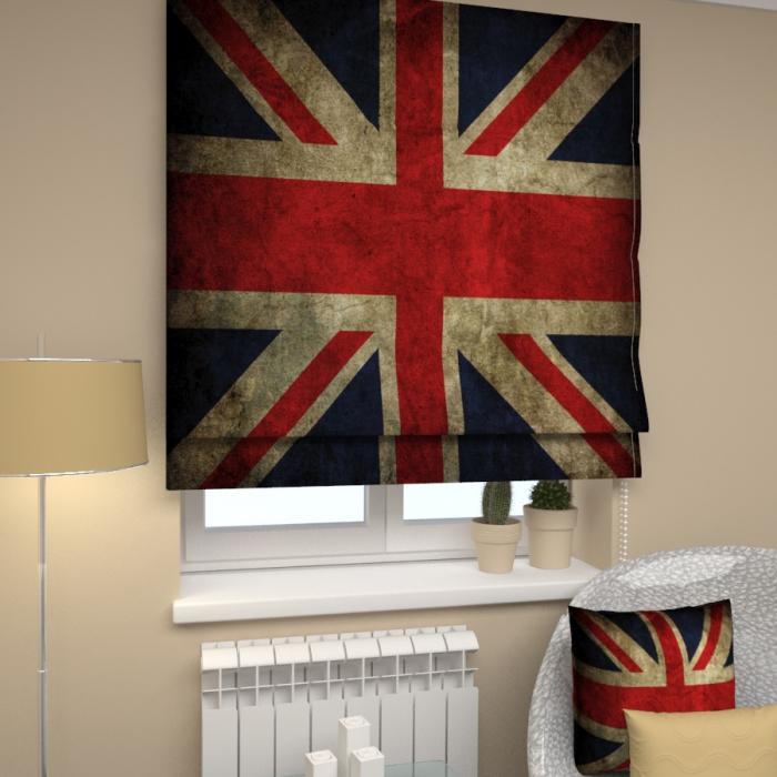 Римские фотошторы «Р Флаг Великобритания»