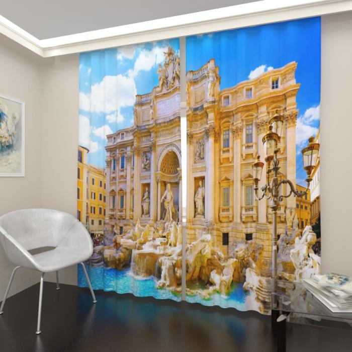 Фотошторы «Фонтан в Риме»