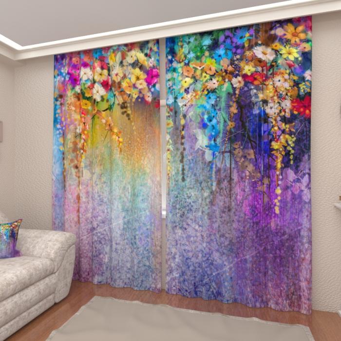 Большая распродажа «Цветочные грезы 4, Атлас премиум, высота 245 см»