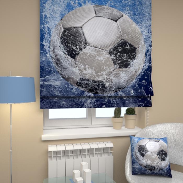 Римские фотошторы «Р Футбольный мяч 2»