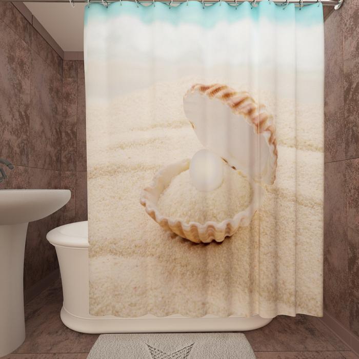Фотошторы для ванной «Жемчужина»