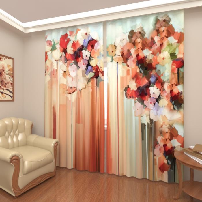 Фотошторы «Живописная композиция цветов»