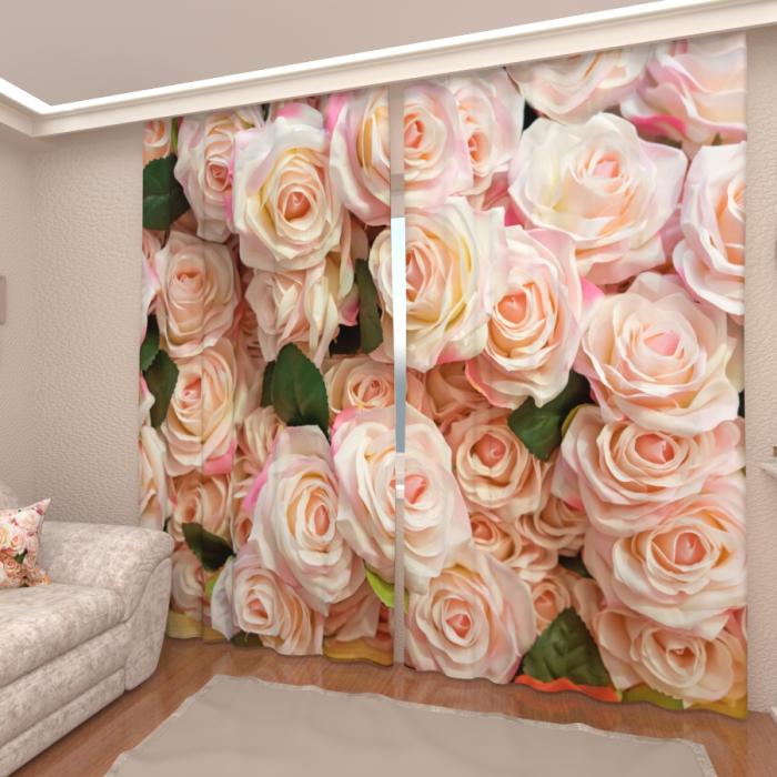 Фотошторы «Изобилие роз»