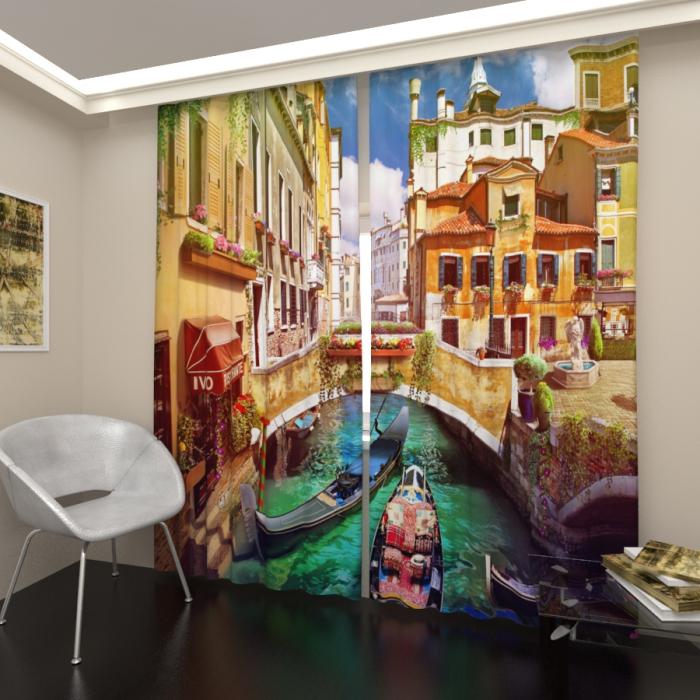 Фотошторы «Канал в Венеции»